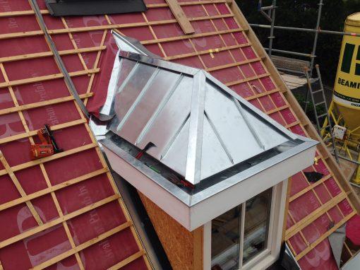 Bekleding dakkapellen nieuwbouwwoning
