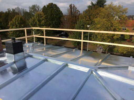 Blank zinken roeven dak